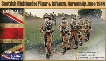 Gecko Models Scottish Highlander Piper &Infrantry